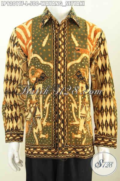 Baju Batik Pria Lengan Panjang Desain Terbaru