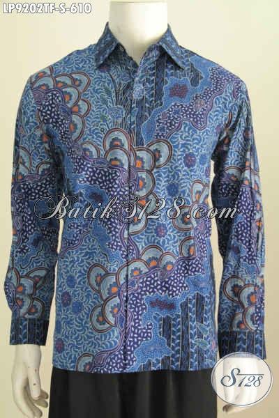 Kemeja Batik Mahal, Hem Batik Tulis Premium Lengan Panjang Full Furing Motif Mewah, Pas Untuk Rapat [LP9202TF-S]