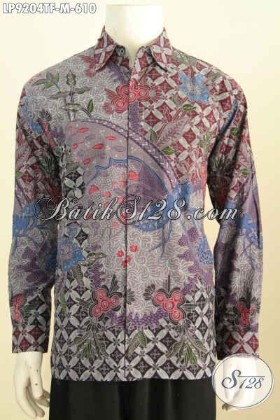 Hem Lengan Panjang Full Furing Halus Size M, Baju Batik Tulis Istimewa Buatan Solo, Pilihan Tepat Tampil Sempurna Harfga 610K