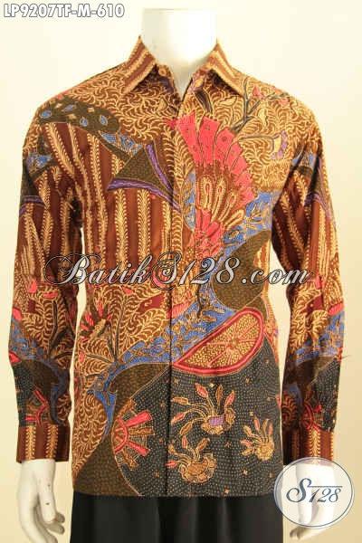 Busana Batik Kerja Premium, Hem Batik Tulis Solo Mewah Full Furing Model Lengan Panjang Harga 610K [LP9207TF-M]