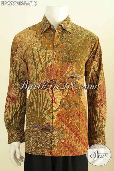Model Baju Batik Pria Lengan Panjang Modern Full Furing Motif Klaik Tulis Asli Harga 610K, Tampil Mewah Berwibawa [LP9209TF-L]