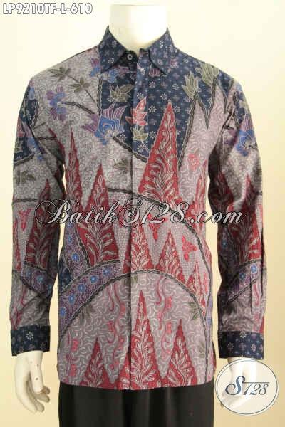 Baju Batik Lengan Panjang Untuk Pria Tampil Gagah Berwibawa, Hadir Dengan Motif Klasik Proses Tulis Daleman Full Furing Harga 600 Ribuan [LP9210TF-L]