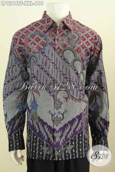 Toko Baju Batik Premium Online, Sedia Kemeja Lengan Panjang Mewah Khas Pejabat, Baju Batik Full Furing Motif Klasik Tulis Asli 610K, Size XXL