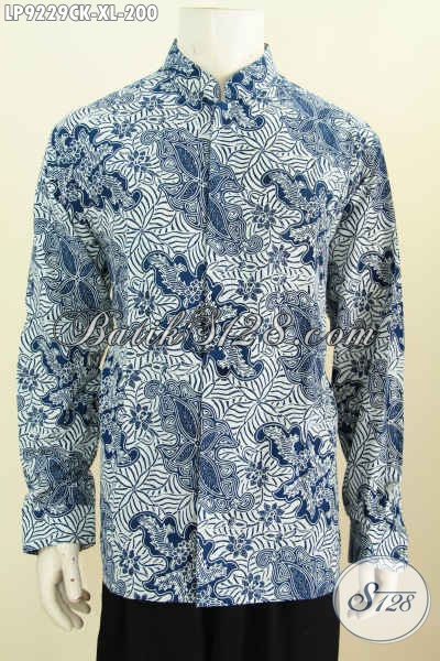 Jual Kemeja Batik Premium Harga Terjangkau, Pakaian Batik Solo Halus Lengan Panjang Bahan Adem Motif Klasik Proses Ca, Pas Buat ke Kantor