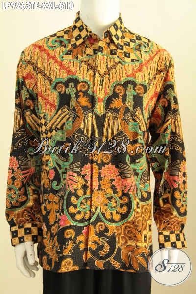 Batik Kemeja Lengan Panjang 3L, Baju Batik Tulis Jumbo Istimewa Full Furing Buatan Solo Asli Harga 610K, Size XXL