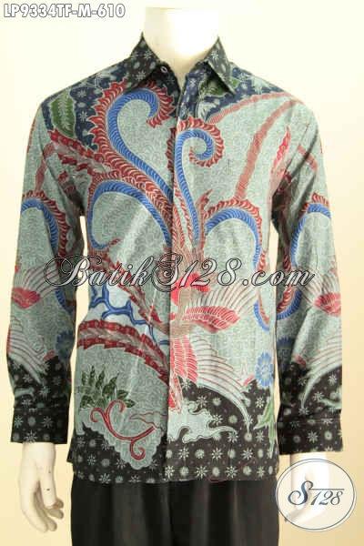 Model Baju Batik Lengan Panjang Pria 2017, Hadir Lebih Elegan Dan Berkelas, Hem Batik Premium Full Furing Motif Klasik Tulis Asli Kesukaan Pejabat [LP9334TF-M]