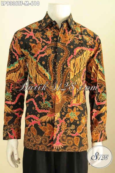 Batik Hem Klasik Mewah Lengan Panjang Buatan Solo Di Lengkapi Furing, Kemeja Batik Premium Proses Tulis Untuk Penampilan Lebih Berkarakter [LP9336TF-M]