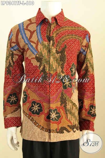 Sedia Model Baju Batik Lengan Panjang Untuk Pria Tampil Gagah Dan Tampan, Hem Batik Full Furing Khas Pejabat Motif Klasik Tulis Asli Harga 610 Ribu [LP9341TF-L]