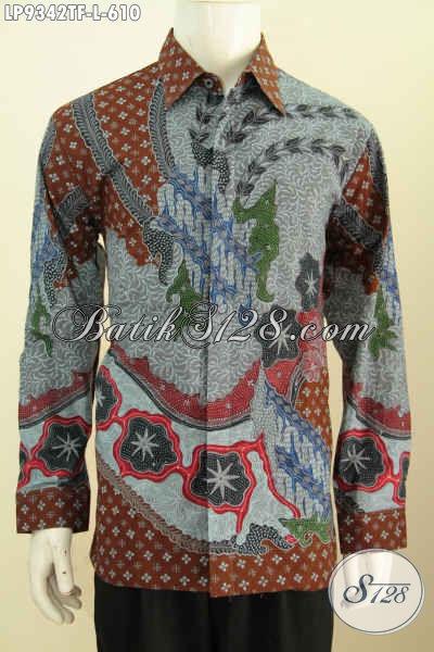 Motif Baju Batik Lengan Panjang Pria Terbaru Lebih Mewah Dan Berkelas Proses Tulis, Baju Batik Solo Full Tulis Bahan Adem Daleman Pake Furing Hanya 600 Ribuan [LP9342TF-L]