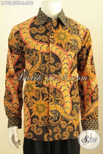Harga Baju Batik Lengan Panjang Pria Premium, Kemeja Batik Full Furing Motif Klasik Tulis Asli Hanya 610K, Tampil Berkelas Dan Gagah [LP9343TF-L]