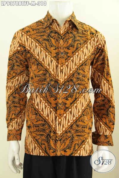 Produk Busana Batik Terbaru Model Lengan Panjang Kwalitas Istimewa Motif Klasik Kombinasi Tulis, Di Jual Online 310K Daleman Full Furing [LP9378BTFF-M]