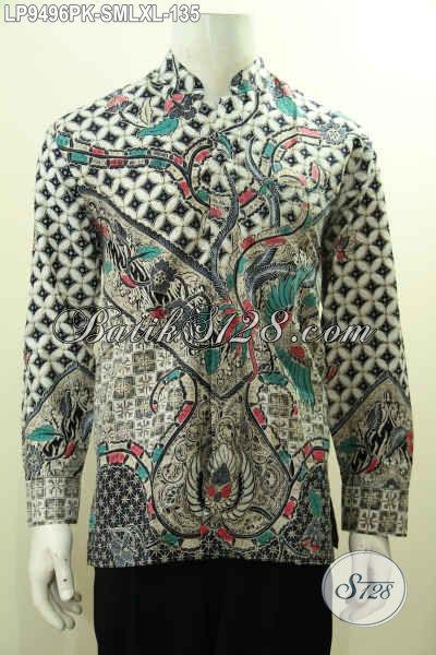 Aneka Kemeja Batik Lengan Panjang Klasik Solo Untuk Pria Muda Dan Dewasa, Baju Batik Printing Berkelas Bikin Penampilan Lebih Mempesona [LP9496PK-XL]