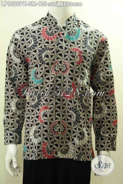 Batik Kemeja Istimewa Harga Biasa, Pakaian Batik Lengan Panjang Pria Muda Motif Klasik Suri Kencono Bahan Adem Nyaman Di Pakai [LP9500PK-S]