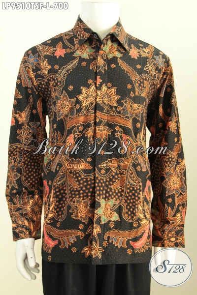 Produk Baju Batik Solo Lengan Panjang Terbaru, Pakaian Batik Khas Pejabat Bahan Halus Motif Klasik Nan Istimewa Untuk Kerja Dan Rapat Harga 700K, Size L