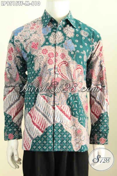Toko Baju Batik Online, Sedia Kemeja Mewah Lengan Panjang Full Furing Untuk Penampilan Gagah Berkelas Harga 610K [LP9515TF-M]
