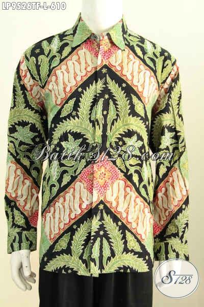 Batik Hem Solo Istimewa, Pakaian Batik Kerja Berkelas Lengan Panjang Full Furing Asli Buatan Solo, Di Jual Online 610K, Size L