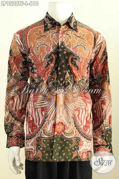 Pusat Baju Batik Premium Online Pilihan Komplit, Sedia Hem Lengan Panjang Mewah Berkelas Proses Tulis Daleman Pake Furing, Penampilan Lebih Istimewa [LP9528TF-L]