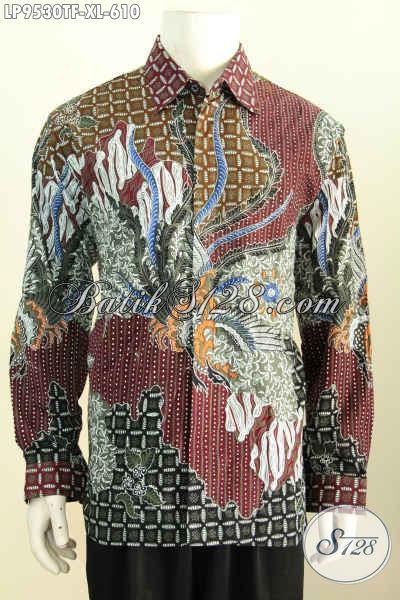 Harga Baju Batik Pria Lengan Panjang Premium, Hem Bekrelas Full Furing Motif Klasik Tulis Asli Hanya 610K, Kesukaan Pejabat Dan Eksekutif [LP9530TF-XL]