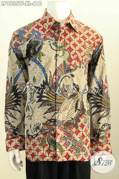 Toko Online Aneka Produk Batik Solo, Jual Kemeja Mewah Istimewa Full Furing Lengan Panjang Motif Bagus Tulis Asli Hanya 610 Ribu [LP9535TF-XL]