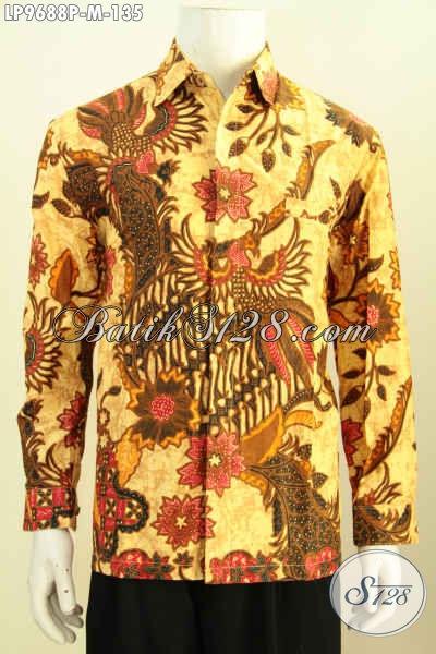 Sedia Hem Batik Solo Lengan Panjang Berkelas, Pakaian Batik Modis Istimewa Untuk Kerja Dan Acara Resmi Hanya 100 Ribuan Saja [LP9688P-M]