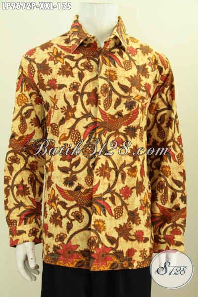 Baju Batik Printing Untuk Pria Gemuk Hem Batik Halus
