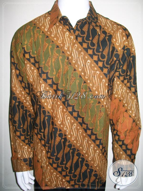Grosir Kemeja Batik Pria Lengan Panjang Motif Parang Asli
