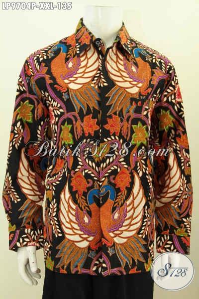 Produk Baju Kemeja Batik Pria Gemuk 2017, Hadir Dengan Desain Mewah Berpadu Motif Elegan Bahan Halus, Pas Banget Untuk Acara Resmi Harga 135K [LP9704P-XXL]