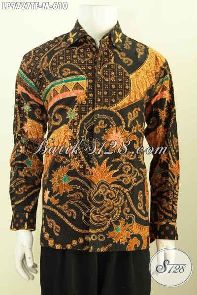 Baju Batik Full Furing Istimewa, Pakaian Batik Premium Berkelas Model Lengan Panjang Motif Tulis Asli, Cocok Untuk Para Eksekutif [LP9727TF-M]