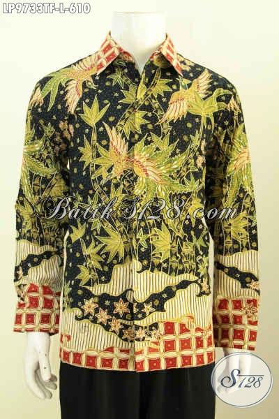 Hem Batik Lengan Panjang, Proses Batik Tulis Full Motif Mewah Berkelas, Cocok Untuk Pejabat Dan Eksekutif