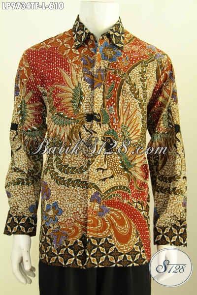 Agen Baju Batik Premium Online, Sedis Hem Batik Lengan Panjang Full Furing Motif Klasik Proses Tulis Harga 610K [LP9734TF-L]