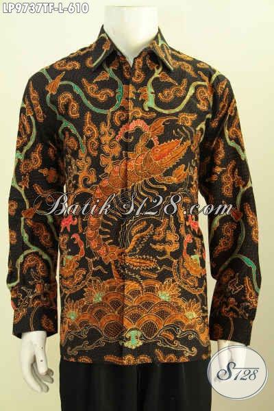 Batik Kemeja Lengan Panjang Motif Bagus Proses Tulis Asli, Pakaian Batik Full Furing Nan Mewah Harga 610K, Penampilan Makin Sempurna [LP9737TF-L]