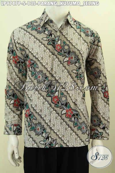 Hem Batik Klasik Printing Motif Parang Kusumo Seling, Baju Batik Berkelas Harga Terjangkau Kwalitas Bagus [LP9747P-S]