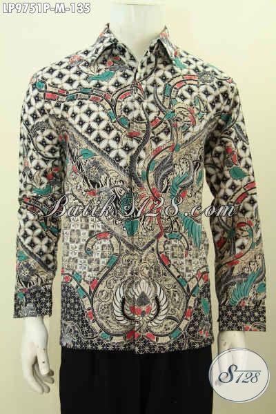 Jual Online Baju Batik Kwalitas Bagus, Pakaian Batik Halus Lengan Pendek Motif Klasik Printing Harga 135K [LP9751P-M]