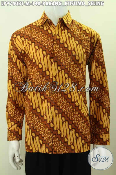 Baju Hem Batik Klasik Parang Kusumo Seling Lengan Panjang Proses Printing Kwalitas Bagus Harga 148K [LP9760BT-M]
