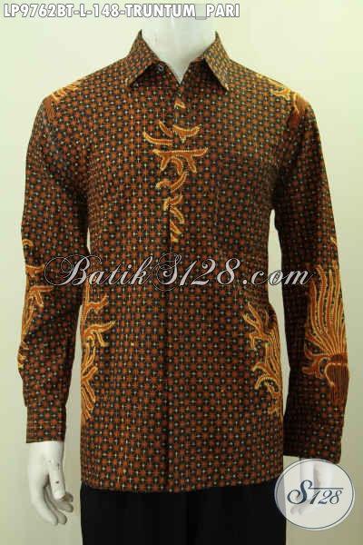 Hem Batik Istimewa Hanya 148K, Kemeja Lengan Panjang Batik Klasik Truntum Pari Proses Kombinasi Tulis, Pas Untuk Acara Resmi [LP9762BT-L]