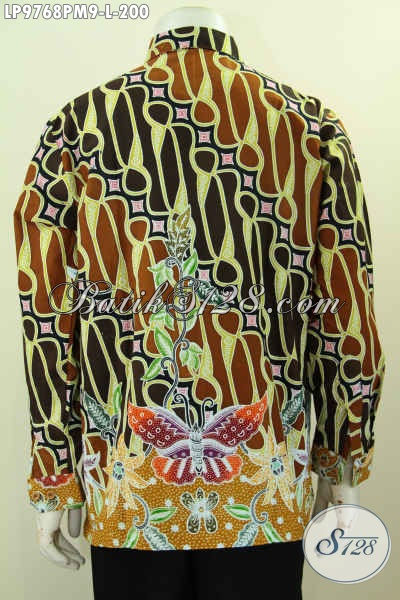 Batik Kemeja Lengan Panjang Mewah Berkelas, Produk Pakaian Batik Pria Muda Dan Dewasa Untuk Tampil Berwibawa, Size L Harga 200 Ribu