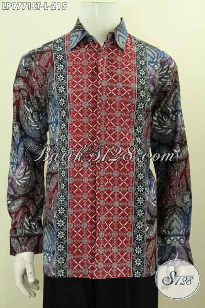 Baju Batik Kombinasi Untuk Pria, Kemeja Batik Elegan Dan Mewah Proses Cap Tulis, Pas Untuk Kondangan Tampil Ganteng Maksimal, Size L
