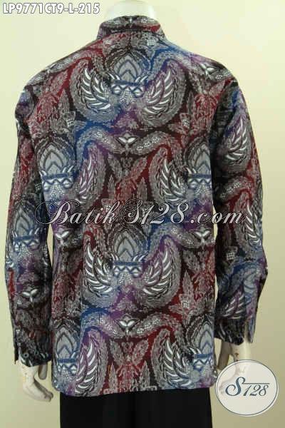 Batik Hem Solo Terkini, Kemeja Batik Jawa Istimewa Lengan Panjang Bahan Adem Motif Bagus Harga 215K Proses Cap Tulis [LP9771CT-L]