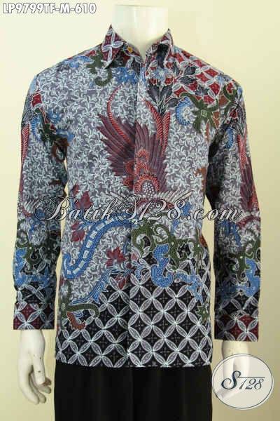 Produk Baju Batik Premium Terbaru, Kemeja Batik Mewah Buatan Solo Lengan Panjang Full Furing, Bikin Penampilan Gagah Berwibawa [LP9799TF-M]