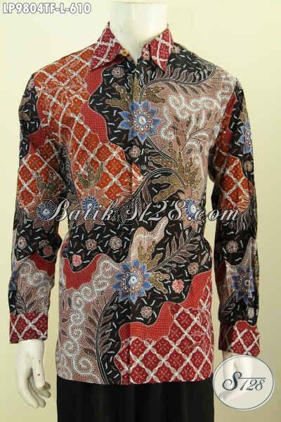 Baju Batik Lengan Panjang Online, Hem Batik Mewah Full Furing Motif Klasik Tulis Tangan Asli Harga 600 Ribuan, Kesukaan Pejabat Dan Eksekutif, Size L