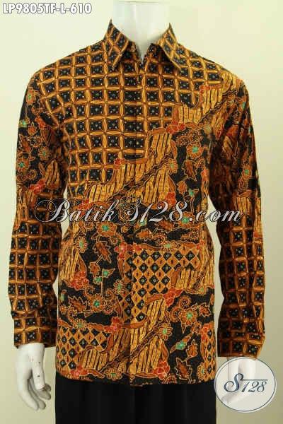 Toko Online Busana Batik Paling Komplit, Sedia Hem Lengan Panjang Full Furing Halus Nan Istimewa, Ukuran L Elegan Untuk Kondangan