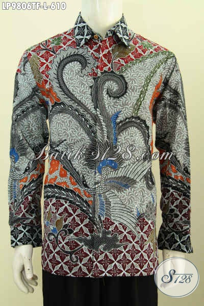 Jual Online Pakaian Batik Mewah Halus Full Furing Motif Klasik Tulis Tangan Asli, Baju Batik Jawa Tengah Untuk Kerja Dan Rapat, Size L