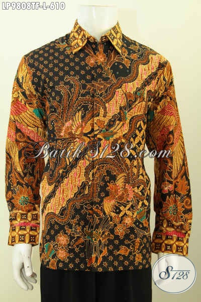 Toko Online Busana Batik Premium, Sedia Hem Lengan Panjang Mewah Khas Pejabat Spesial Untuk Lelaki Karir Sukses [LP9808TF-L]