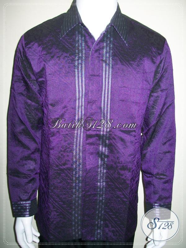 Baju Tenun Pria Full Furing Warna Ungu Exclusive Dan Elegan [LP980NF-L]