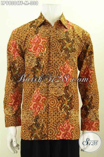 Sedia Busana Batik Elegan Motif Klasik, Hem Batik Fashion Untuk Pria Muda Model Lengan Panjang Full Furing Proses Cap Tulis, Hanya 300 Ribuan Saja