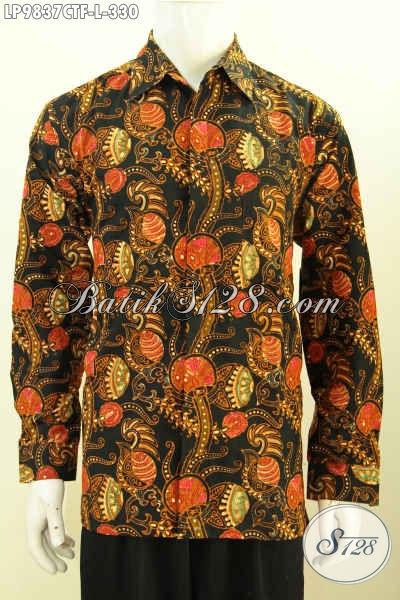 Baju Kemeja Lengan Panjang Model 2017, Pakaian Batik Pria Muda Dan Dewasa Pilihan Tepat Untuk Tampil Sempurna, Size L