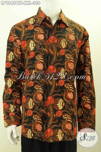 Batik Kemeja Mewah Lengan Panjang Khas Jawa Tengah Baju