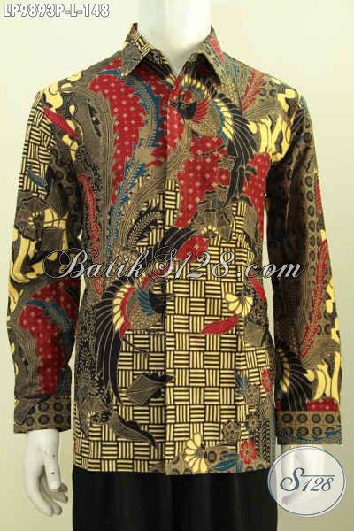 Juragan Batik Online Pilihan Komplit, Sedia Hem Lengan Panjang Batik Printing Klasik Istimewa Harga Biasa, Cocok Buat Kondangan [LP9893P-L]