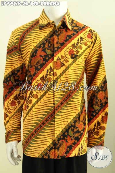 kemeja batik pria lengan panjang eksklusif gaul terbaru
