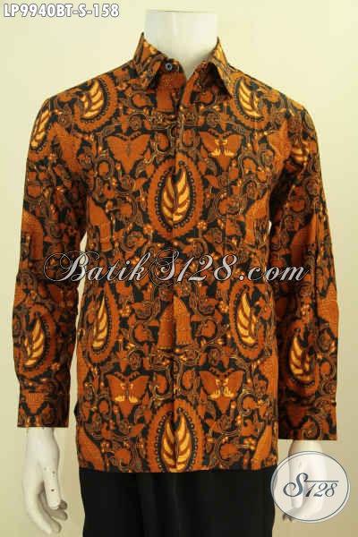 Hem Batik Klasik Lengan Panjang, Kemeja Batik Formal Nan Elegan Proses Kombinasi Tulis Harga 158K, Spesial Untuk Pria Muda  [LP9940BT-S]